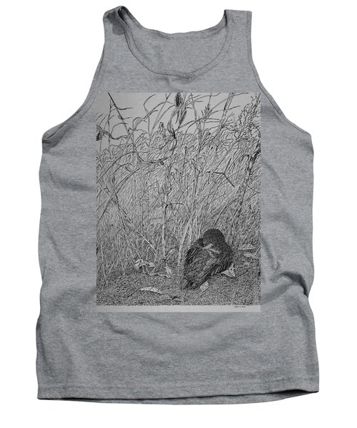 Bird In Winter Tank Top by Daniel Reed