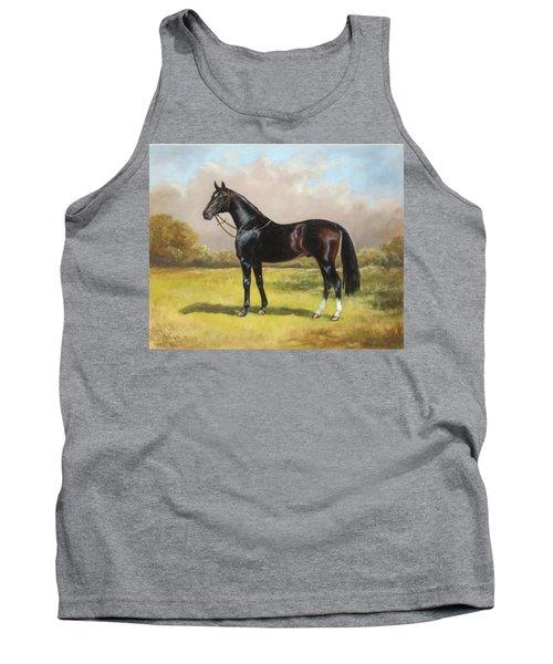 Black English Horse Tank Top