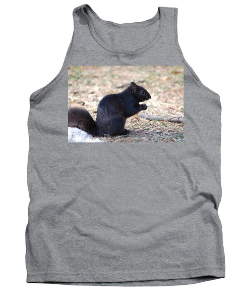Black Squirrel Of Central Park Tank Top by Sarah McKoy