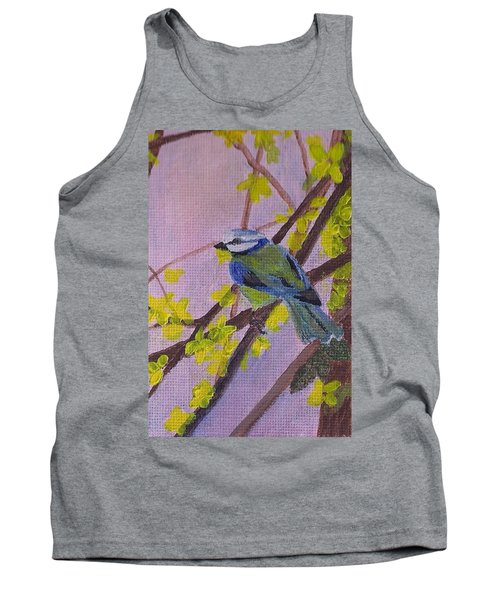 Tank Top featuring the painting Blue Bird by Christy Saunders Church