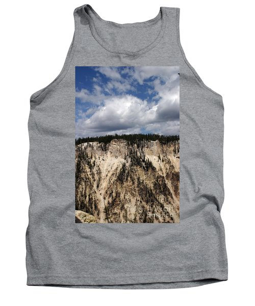 Tank Top featuring the photograph Blue Skies And Grand Canyon In Yellowstone by Living Color Photography Lorraine Lynch