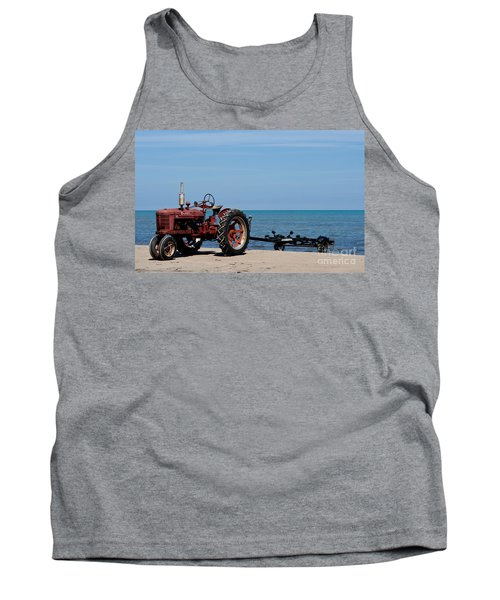 Tank Top featuring the photograph Boat Trailer by Barbara McMahon