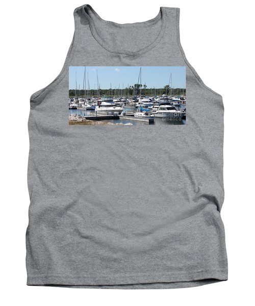 Tank Top featuring the photograph Boats At Winthrop Harbor by Debbie Hart