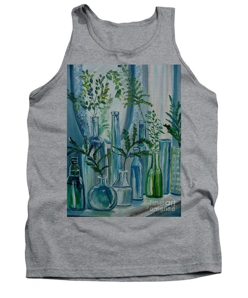 Tank Top featuring the painting Bottle Brigade by Julie Brugh Riffey