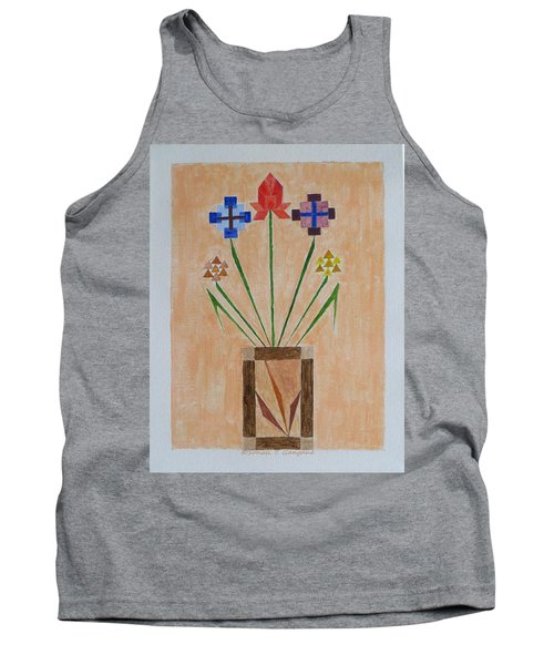 Tank Top featuring the painting Bouquet by Sonali Gangane