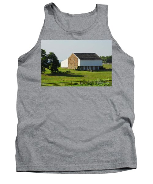 Tank Top featuring the photograph Brian Barn At Gettysburg by Cindy Manero
