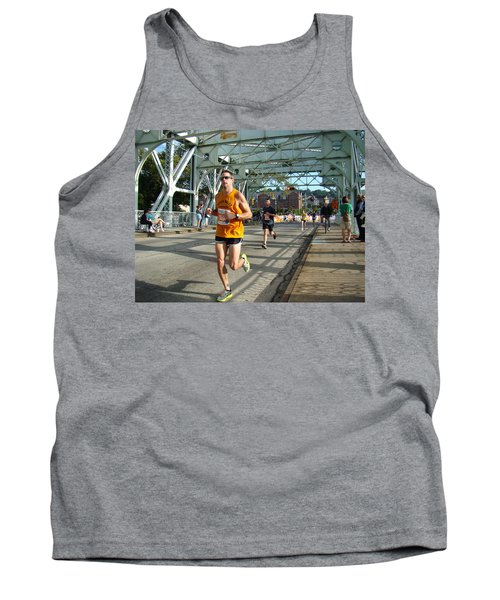 Tank Top featuring the photograph Bridge Runner by Alice Gipson