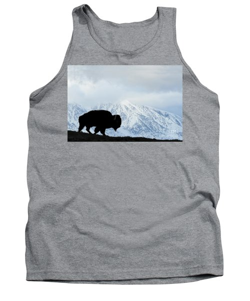 Tank Top featuring the photograph Buffalo Suvived Another Yellowstone Winter by Dan Friend