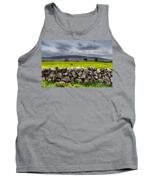 Tank Top featuring the photograph Burren Stones by Juergen Klust