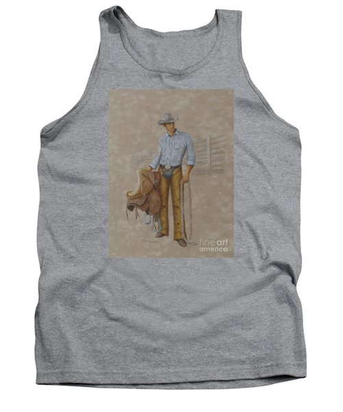 Busted Bronc Rider Tank Top