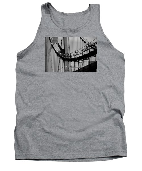 Tank Top featuring the photograph Cables by John Schneider