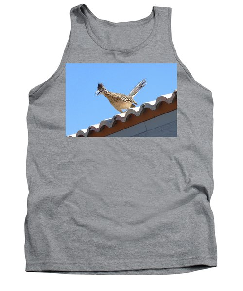 Tank Top featuring the photograph California Roadrunner by Carla Parris