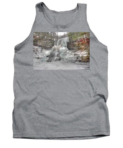 Cascades In Winter 1 Tank Top by Dan Stone