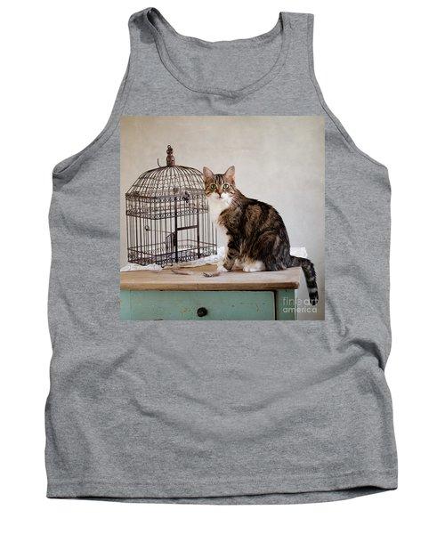 Cat And Bird Tank Top