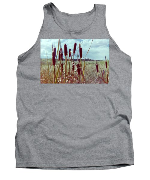 Tank Top featuring the photograph Cat Tails by Bonfire Photography
