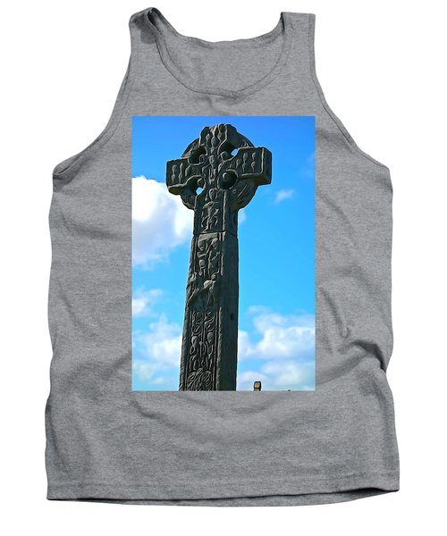 Tank Top featuring the photograph Celtic Cross by Charlie and Norma Brock