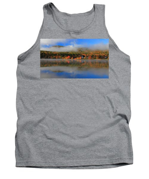 Church Across The Lake-panoramic Tank Top