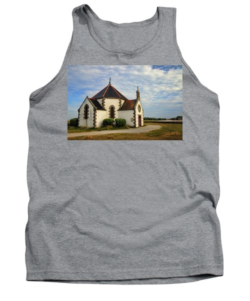 Tank Top featuring the photograph Church Off The Brittany Coast by Dave Mills