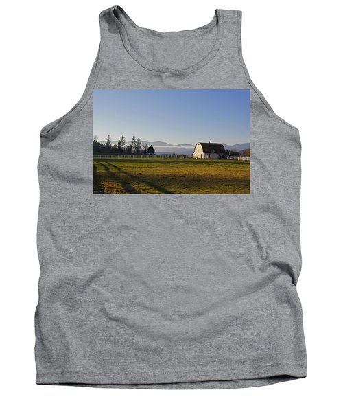 Tank Top featuring the photograph Classic Barn In The Country by Mick Anderson