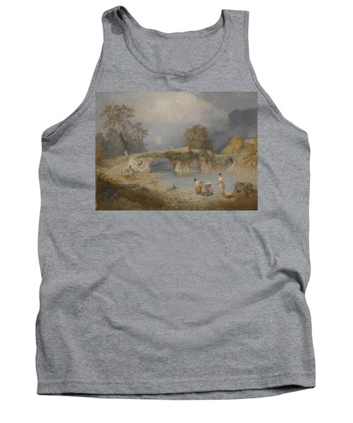 Clearing Up For Fine Weather Beddgelert North Wales 1867 Tank Top