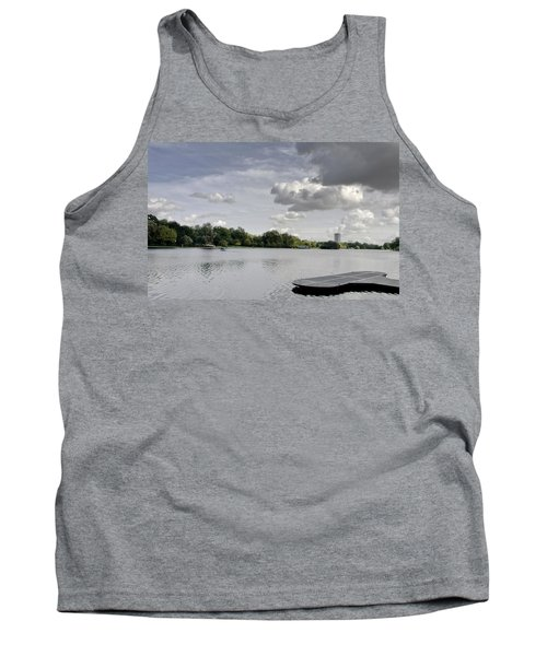 Tank Top featuring the photograph Cloudy Hyde Park by Maj Seda