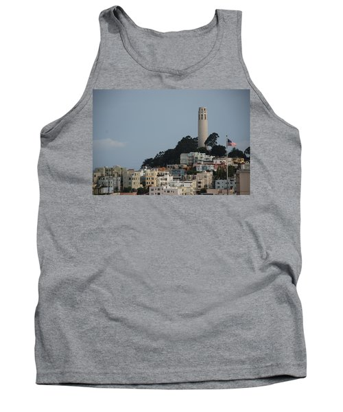 Tank Top featuring the photograph Coit Tower by Eric Tressler
