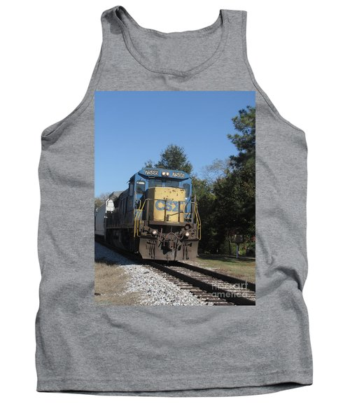 Tank Top featuring the photograph Coming Down The Track by Donna Brown