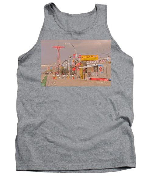 Coney Island Boardwalk Tank Top by Mark Gilman