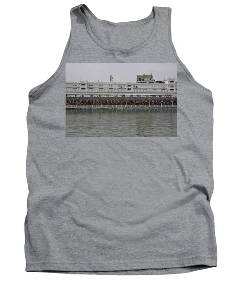 Tank Top featuring the photograph Crowd Of Devotees Inside The Golden Temple by Ashish Agarwal