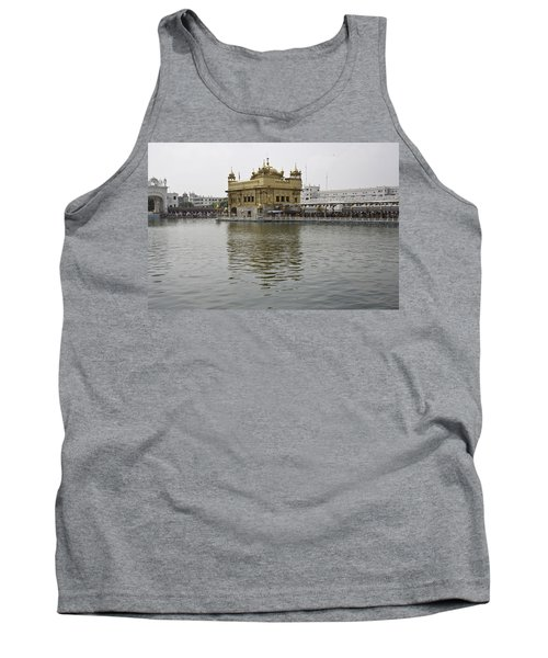 Tank Top featuring the photograph Darbar Sahib And Sarovar Inside The Golden Temple by Ashish Agarwal