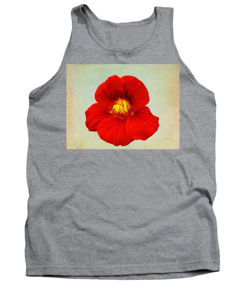 Daylily On Texture Tank Top by Bill Barber
