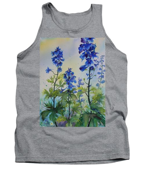 Delphiniums Tank Top by Ruth Kamenev