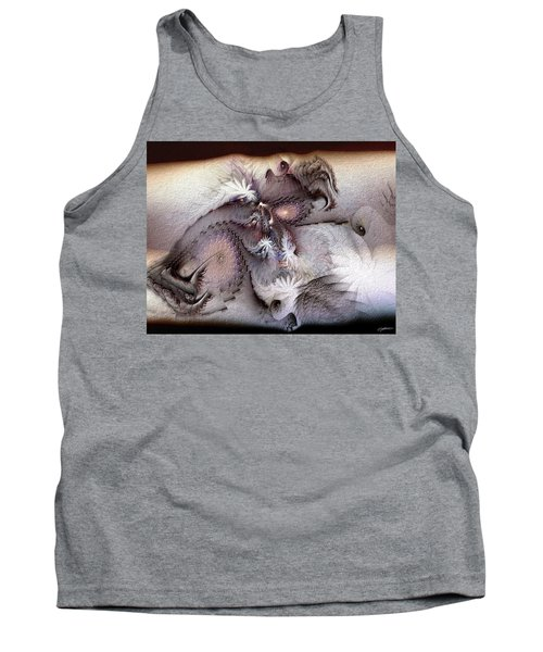 Tank Top featuring the digital art Derailing Destiny by Casey Kotas