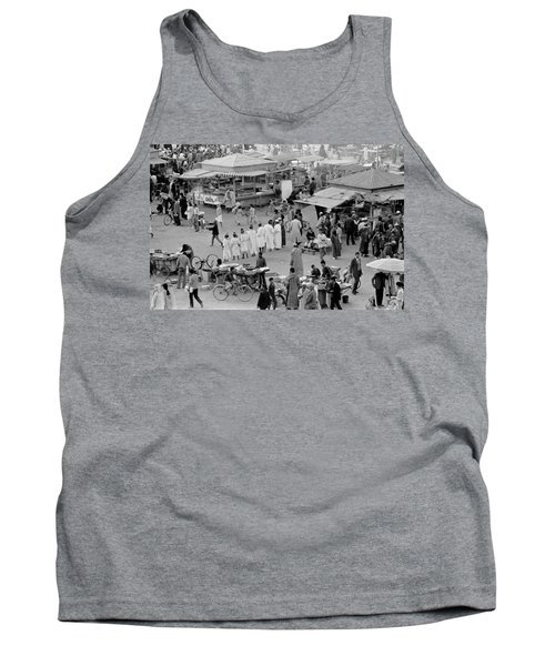 Tank Top featuring the photograph Djemaa El Fna Marrakech Morocco by Tom Wurl