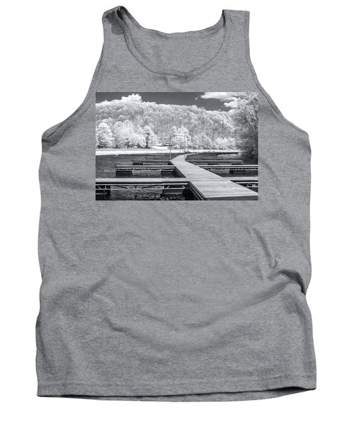 Tank Top featuring the photograph Dock In Infrared by Mary Almond