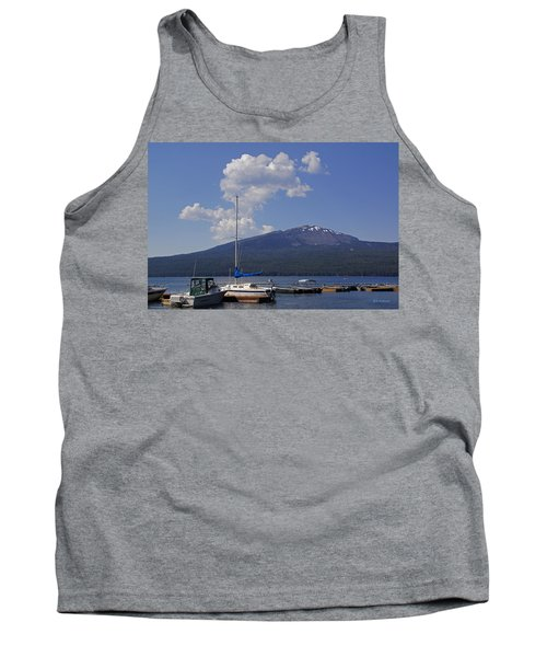Tank Top featuring the photograph Docks At Diamond Lake by Mick Anderson