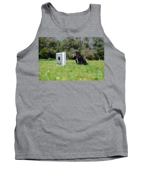 Dog Watching Tv Tank Top