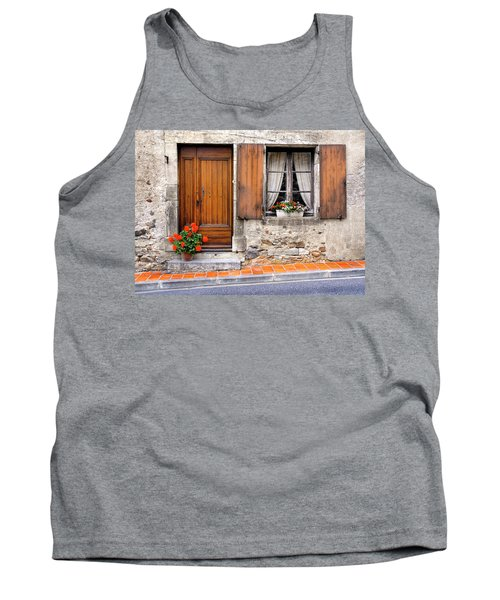 Tank Top featuring the photograph Doorway And Window In Provence France by Dave Mills