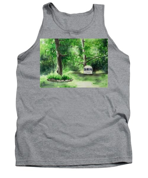 Tank Top featuring the painting Early Summer At The Geddes Farm --ann Arbor Michigan by Yoshiko Mishina