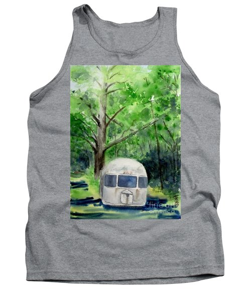 Tank Top featuring the painting Early Summer At The Geddes Farm 1 --ann Arbor  Michigan by Yoshiko Mishina