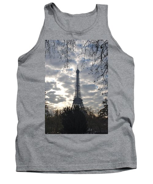 Tank Top featuring the photograph Eiffel In The Morning by Eric Tressler