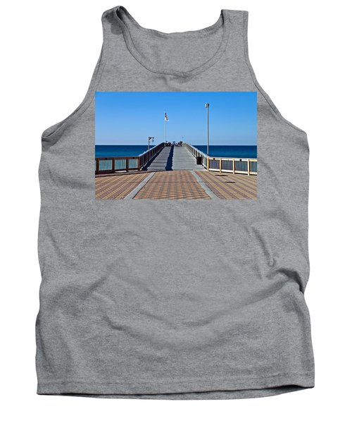 Tank Top featuring the photograph Entrance To A Fishing Pier by Susan Leggett