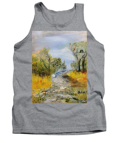 Tank Top featuring the painting Evening Romance by Evelina Popilian