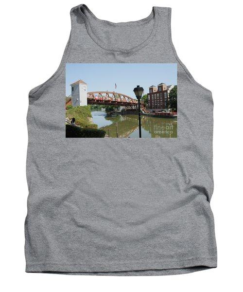 Tank Top featuring the photograph Fairport Lift Bridge by William Norton