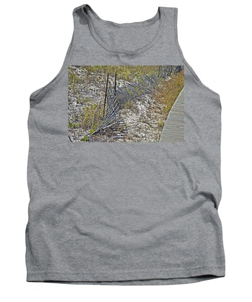 Tank Top featuring the photograph Fence And Boardwalk by Susan Leggett