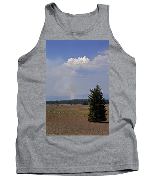 Fire In The Cascades Tank Top by Mick Anderson