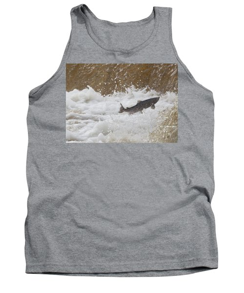 Fish Jumping Upstream In The Water Tank Top
