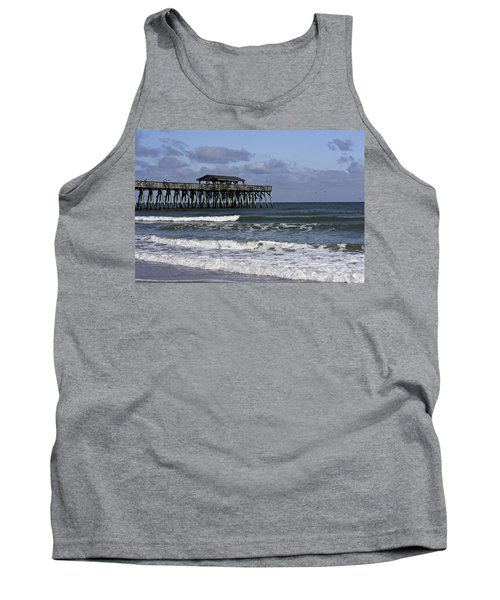 Fishing On The Pier Tank Top