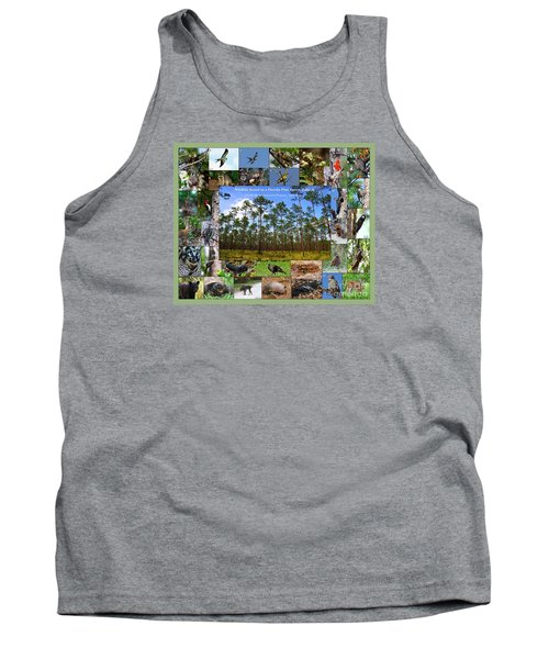 Tank Top featuring the photograph Florida Wildlife Photo Collage by Barbara Bowen