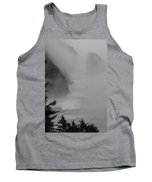 Tank Top featuring the photograph Fog And Cliffs Of The Oregon Coast by Mick Anderson